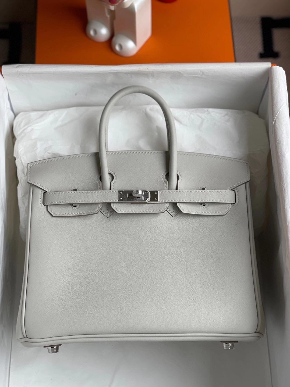 愛馬仕鉑金包刻印在哪個位置 2021年 Z刻 Hermes Birkin 25cm Swift 80 grey pearl 珍珠灰