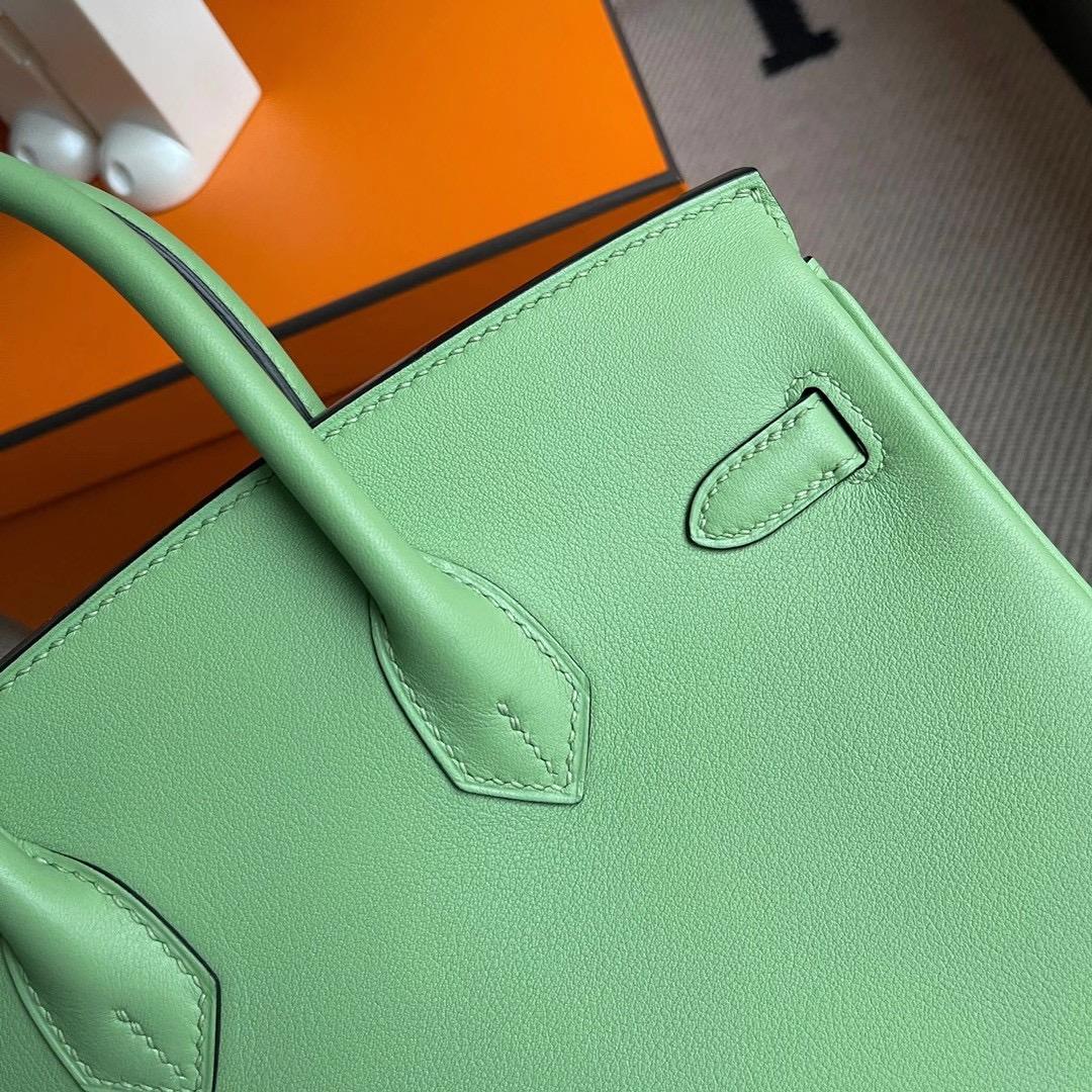 香港西貢區清水灣 愛馬仕鉑金包 Hermes Birkin 25cm Swift 3I Vert Criquet 牛油果綠