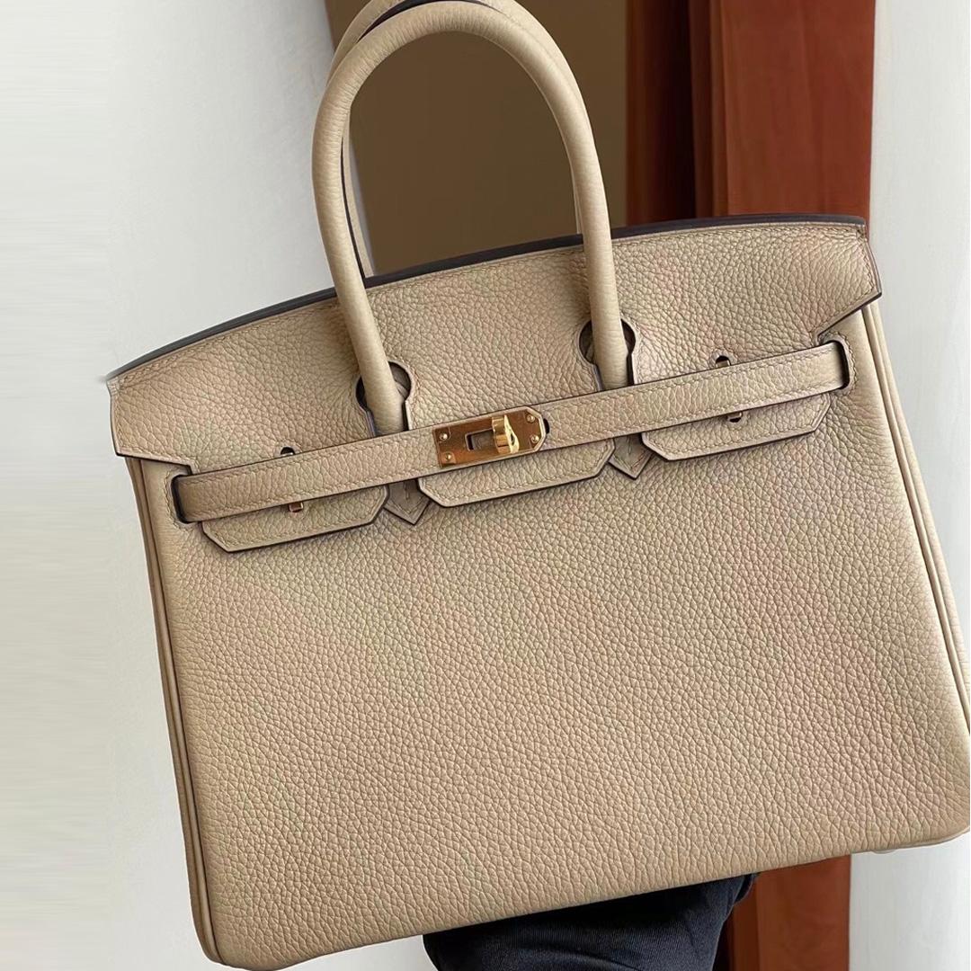UAE Abu Dhabi Hermes Birkin 25cm togo S2 風衣灰 Trench 金扣 全手工蜜蠟線縫製