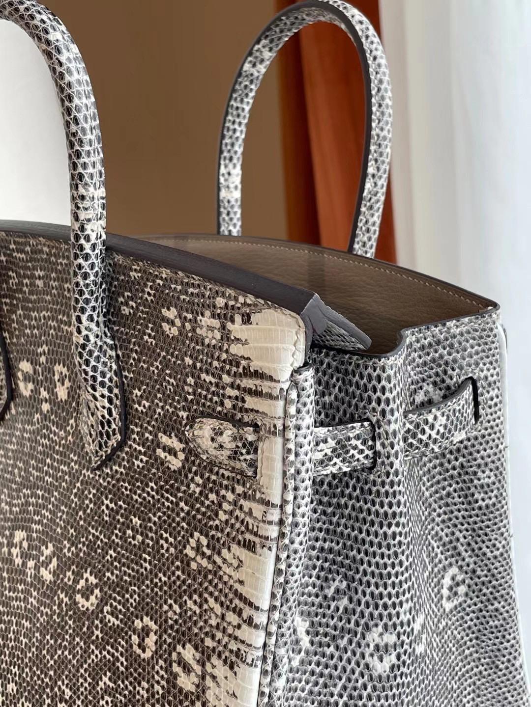 UAE Abu Dhabi Hermes Birkin 25 Lizard 雪花色 自然色 禦用蜥蜴皮 全手工蜜蠟線縫製