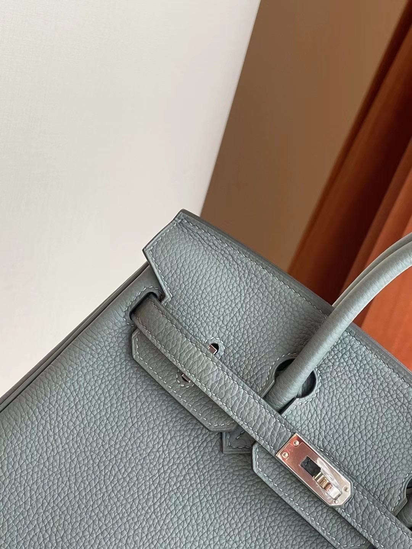 UK Britai Hermes Birkin 25cm togo 63 杏綠色 Vert Amande 全手工蜜蠟線縫 銀扣