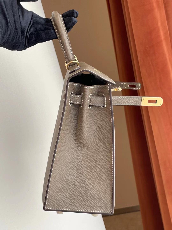 阿聯酋的阿布紮比 UAE Abu Dhabi Hermes Kelly 25cm Epsom 18 Etoupe 大象灰