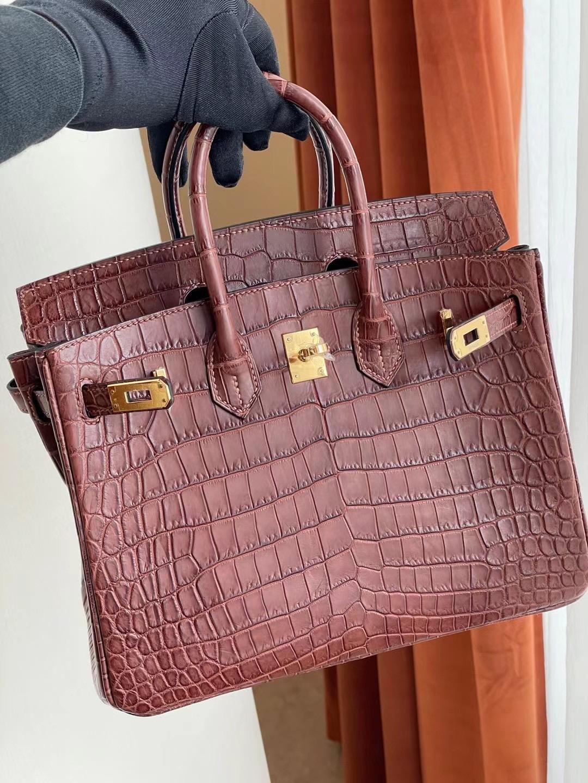 Dhabi Hermes Birkin 25cm matte Mississippiensis 全手工蜜蠟線縫 金扣