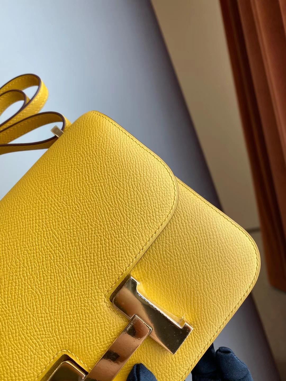 加拿大愛馬仕包包 Canada Hermes Constance Mini 9D Amber 琥珀黃 金扣