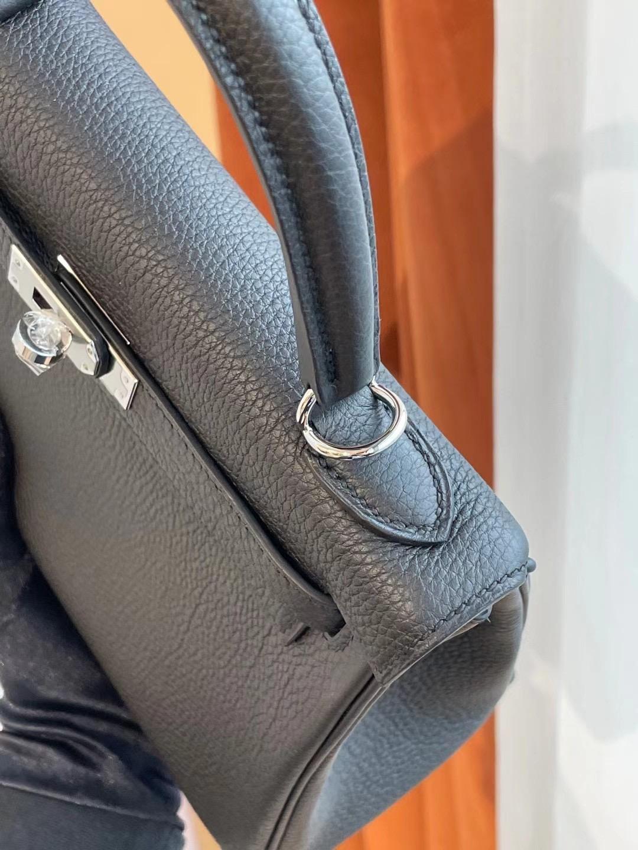 臺灣新北市三重區 Hermes Kelly 25cm 89 Noir 黑色 Togo 全手工蜜蠟線縫製