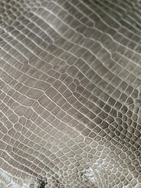 愛馬仕 81 Gris Tourterelle 斑鳩灰 亮面灣鱷 禦用原廠進口Hcp鱷魚皮