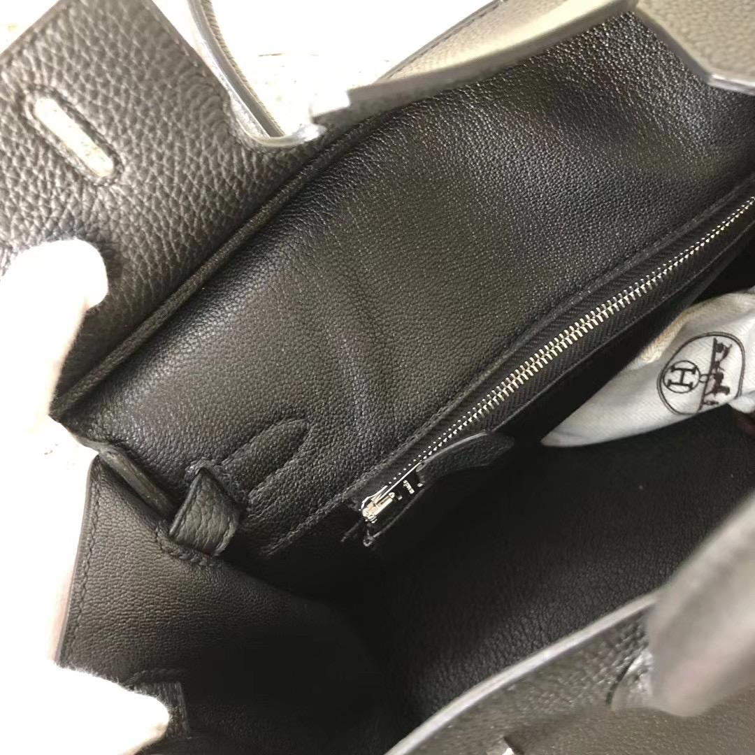 愛馬仕 2021年 Z刻工匠號 Hermes Birkin 25cm CK89 Noir 黑色 Togo小牛皮 銀扣