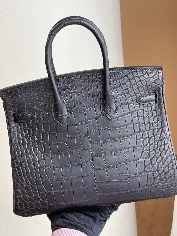 Saudi Arabia United Arab Emirates Hermes Birkin 25 89 Noir 黑色 霧面方塊 美洲鱷魚