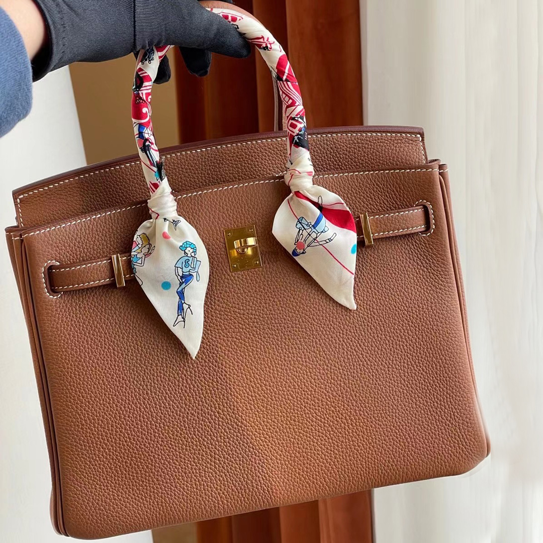 USA Hermes Birkin 25cm Togo CK37 gold 金棕色 全手工蜜蠟線縫 金扣